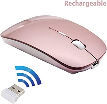 Calvas Ultra-thin Optical Wireless Mouse Mice 2.4GHz+USB Receiver Wireless Mouse with USB Receive For Laptop PC Macbook Color: red