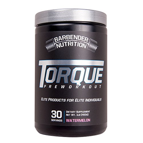 Barbender Nutrition Torque Preworkout Powder - Best Pre-Workout Energy Supplement for both Men and Women - Increase Energy, Pump, Focus, and Endurance - N.O Booster - WaterMelon 30 servings