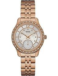 Guess Womens U0931L3 Rose-Gold Stainless-Steel Quartz Fashion Watch