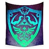 Society6 Zelda Shield Wall Tapestry Large: 88'' x 104''