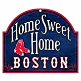 "MLB Boston Red Sox 10-by-11 Wood ""Home Sweet Home"" Sign"