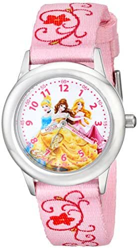 Disney Kids' W001803 Princesses Stainless Steel Time Teacher Watch