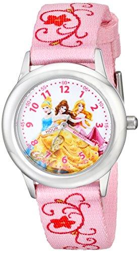Disney Kids' W001803 Princesses Stainless Steel Time Teacher Watch (Ewatch Watch Time Teacher)