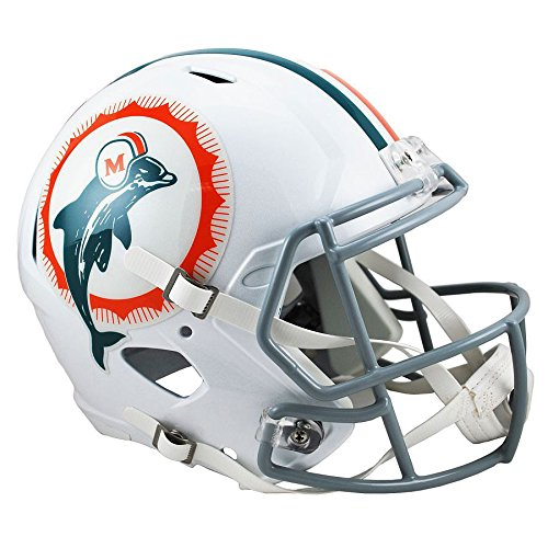 Miami Dolphins 1966 Tribute Officially Licensed Speed Full Size Replica Football (Nfl Throwback Football Helmet)