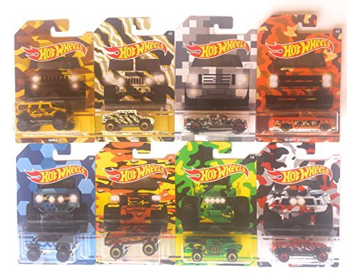 Hot Wheels 2017 Camouflage Series Bundle of 8 Die-Cast, used for sale  Delivered anywhere in USA