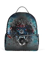 JSTEL Wolf School Backpacks for Boys Girls Bookbag