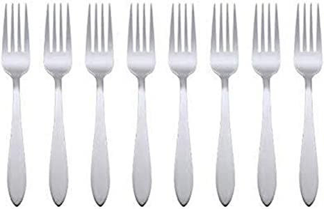 Amazon Com Oneida Taylor Everyday Flatware Dinner Forks Set Of 8 18 0 Stainless Steel Silverware Set 1 5 X 3 75 X 8 6 Inches Flatware Sets