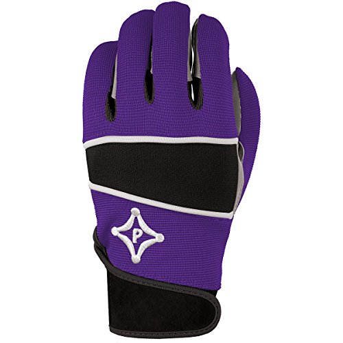 Palmgard Grip-Tack II Ultra-Stick Adult Sports Football Receiver Purple Gloves (Large)