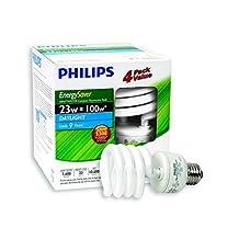 Philips 416016 CFL 23W = 100W Mini Twister Daylight (6500K) 4 Pack