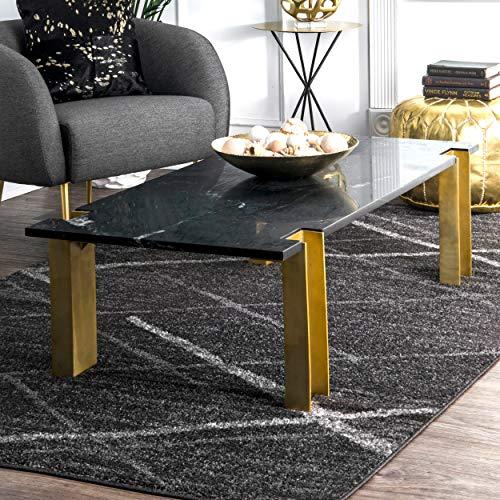 nuLOOM Thigpen Contemporary Area Rug, 10' x 14', Grey, Dark Gray (10x14 Rugs Sale)