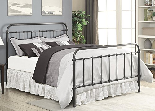 Coaster 300399KE Home Furnishings Bed, Eastern King, Dark (Cottage Iron Bed)