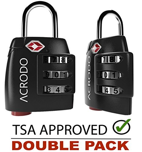 Acrodo TSA Lock - All Metal Combination Padlock with Inspection ...