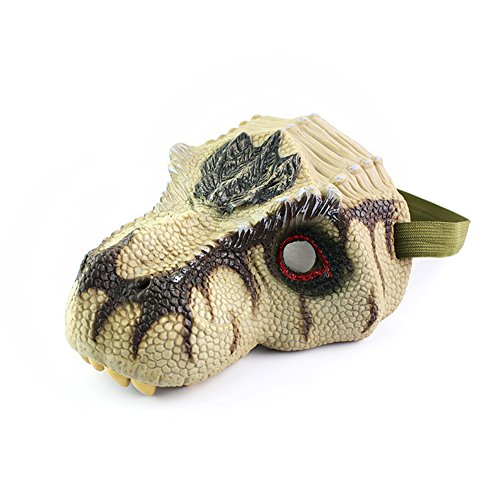 FairOnly Simulation Dinosaur Mask Model Halloween Funny and Kids Prank Toy Tyrannosaurus Rex Triceratops Tyrannosaurus Rex mask -