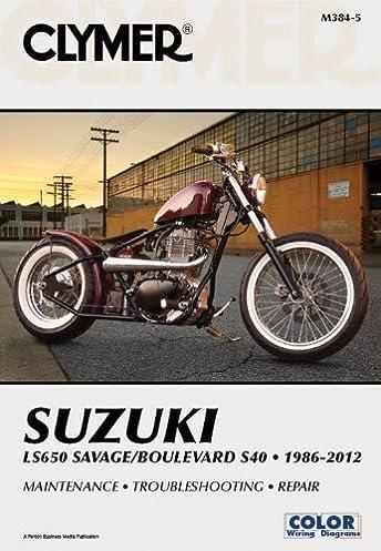 suzuki ls650 savage boulevard s40 1986 2012 clymer repair manuals rh amazon com Suzuki 400 QuadSport Suzuki Savage 400 Frame