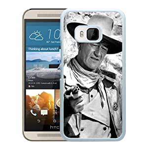 New Fashion Custom Designed Cover Case For HTC ONE M9 With John Wayne White Phone Case