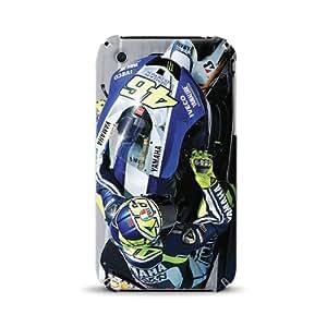 Diabloskinz D0003-0021-0056 Rossi Knee Down 2013 - Carcasa estampada para Apple iPhone 3 y 3GS