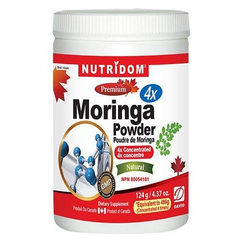 NUTRIDOM Moringa 4X Powder 124 g / 4.37 oz