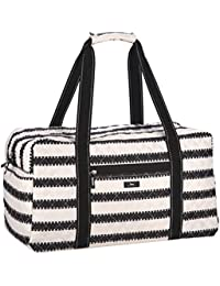 Getaway Quilted Duffel Bag, Front Zipper Pocket, Open Side Pocket, Interior Zipper Pocket, Water Resistant, Wipes Clean