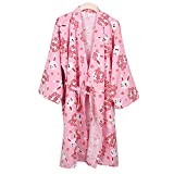 Kylin Express Japanese Style Close-fitting,short sleeves Cotton Kimono Pajamas Suit Dressing Gown Set, R