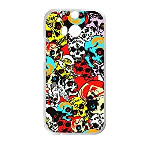 linJUN FENGColorful Skull High Quality Custom Protective Phone Case Cove For HTC M8
