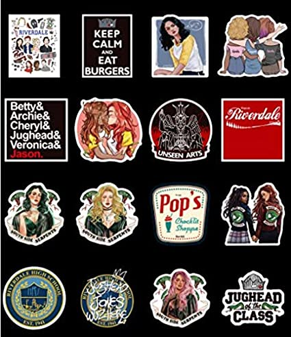 DZCYAN 50pcs/Pack Waterproof Riverdale Stickers Skateboard Luggage Suitcase Motorcycle Laptop Phone Decal Stickers Kids Classic Toy: Amazon.es: Coche y moto