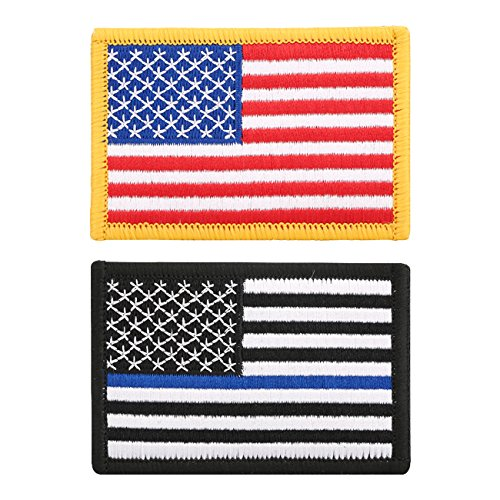 2 Pieces Tactical USA Flag Embroidered Patch by Gelindo, Ame