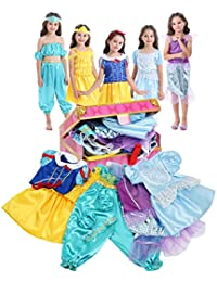 Girls Dress up Trunk Princess Costume Dress Pretend Play Set for Girls Toddlers