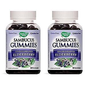 516Uhs68AhL. AA300  - Sambucus Elderberry Gummies Natural Dietary supplements, 60 Rely