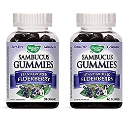 516Uhs68AhL. AC UL250 SR250,250  - Sambucus Elderberry Gummies Natural Dietary supplements, 60 Rely