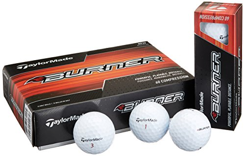 TaylorMade 2017 Burner Golf Balls, White (One Dozen) - Burner Taylormade Senior