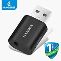 Hagibis 2in1 USB External Sound Card Converter USB to Jack 3.5mm Headphone Audio Adapter Mic Sound Card for PC Laptop only Audio Adapter [not for Android TV]