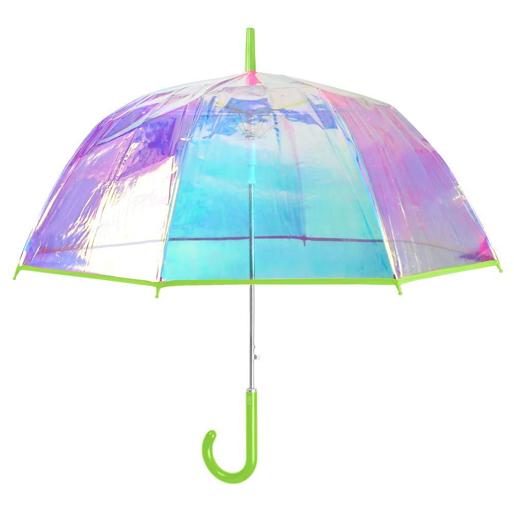 Black Unisex Stick Umbrella Brolly Quick Release