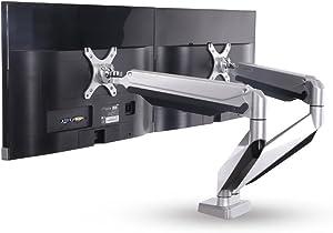 Loctek Dual Arms Desk Monitor Mounts Fits Most 10''-27'' Monitor (D7D)