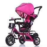 4 in 1 Kids Tricycle 3 Wheels Children Ride On Trike Bike Boy Girl (Pink)