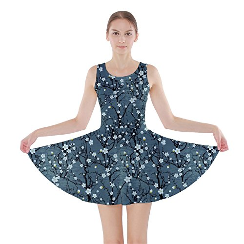 cowcow-womens-japanese-style-cherry-blossom-crane-skater-dress