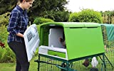 Omlet Eglu Cube Chicken Coop with 3m Secure Steel Mesh Run - Leaf Green - Easy To Clean Plastic