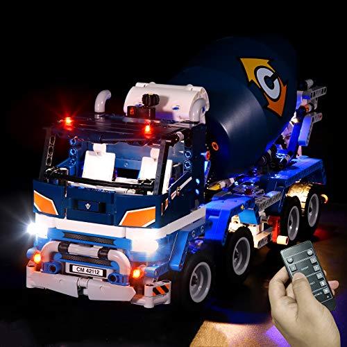 LED 건축 조명 키트를 위한 기술 구체 믹서 트럭에 LED 조명을 설정과 호환되는 레고 42112 없 블록 모델에만명(RC 버전)