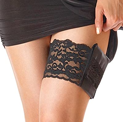 StashBandz® Garter Purse, Stays Put Silicone Grip & 2 Secured Pockets