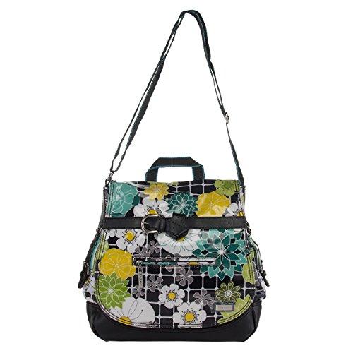 Hadaki Kiko HDK857 Messenger Bag,O Floral,One Size