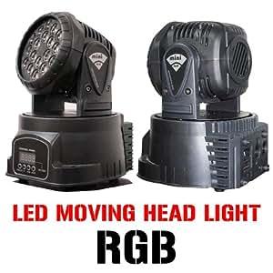 Mini 18 3 watt LED Moving Head DMX RGB DJ Stage Light