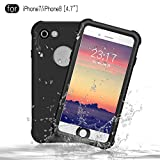 Redpepper Waterproof Case for iPhone 7/iPhone 8 [4.7 inch], IP68 Certified Drop Resistant Full Sealed Underwater Protective Cover, Shockproof, Snowproof and Dirtproof for Outdoor Sports (Black)