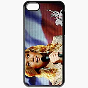 Personalized iPhone 5C Cell phone Case/Cover Skin American Dreamz Mandy Moore Sally Kendoo face Movies Black