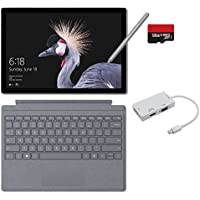 2017 New Surface Pro Bundle (5 Items): Core i7 8GB 256GB Tablet, Surface Pro Signature Type Cover Platinum, New Surface Pen Platinum, 128GB Micro SD Card, Mini DisplayPort Adaptor