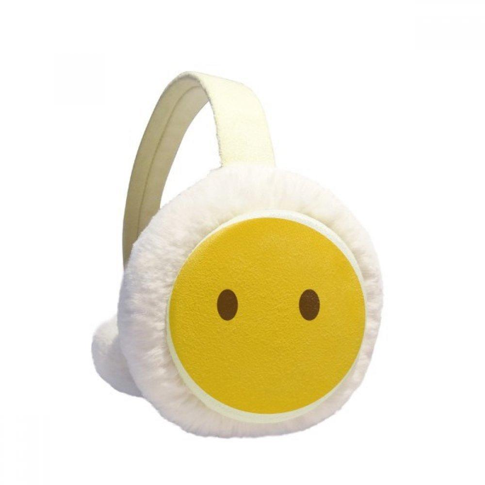 Eyes Yellow Cute Online Chat Emoji Winter Earmuffs Ear Warmers Faux Fur Foldable Plush Outdoor Gift