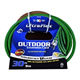 Ultra Flex 140010 Toolway Sjow 12/3 1-Outlet Outdoor Extension Cord, 10M/32.8