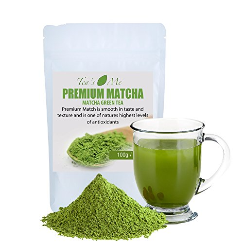Premium Matcha Green Tea Powder (100g)- Organic Japanese Matcha Tea- Increase Metabolism- Energy