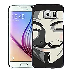 Anonymous V Mask Guy Fawkes Black Cool Customized Design Samsung Galaxy S6 Case