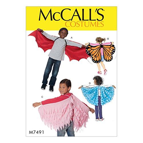 (McCall's Patterns M7491OSZ Kid's Bat, Butterfly Or Fairytale)