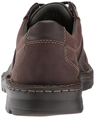 Clarks Mens Vanek Walk Mocassino In Pelle Marrone Scuro