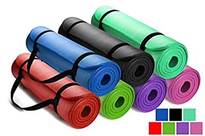 HemingWeigh 1/2-Inch Extra Thick High Density Exercise Yoga Mat with Carrying Strap by HemingWeigh
